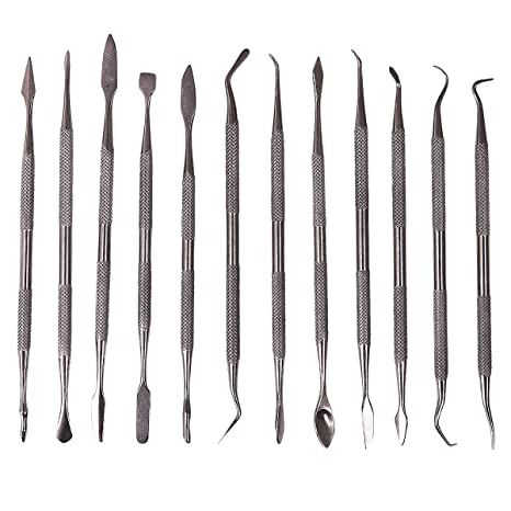 12 Pcs Stainless Steel Wax Carving Sculpting Set 24 Assorted Heads R0330
