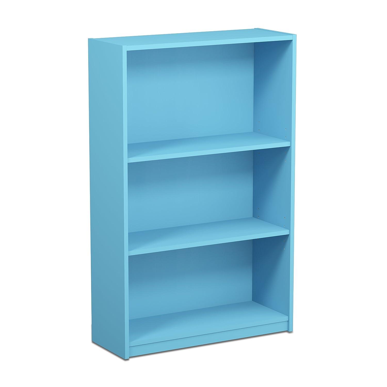 Furinno Jaya Simple Home 3-Shelf Bookcase, Black 14151R1BKW