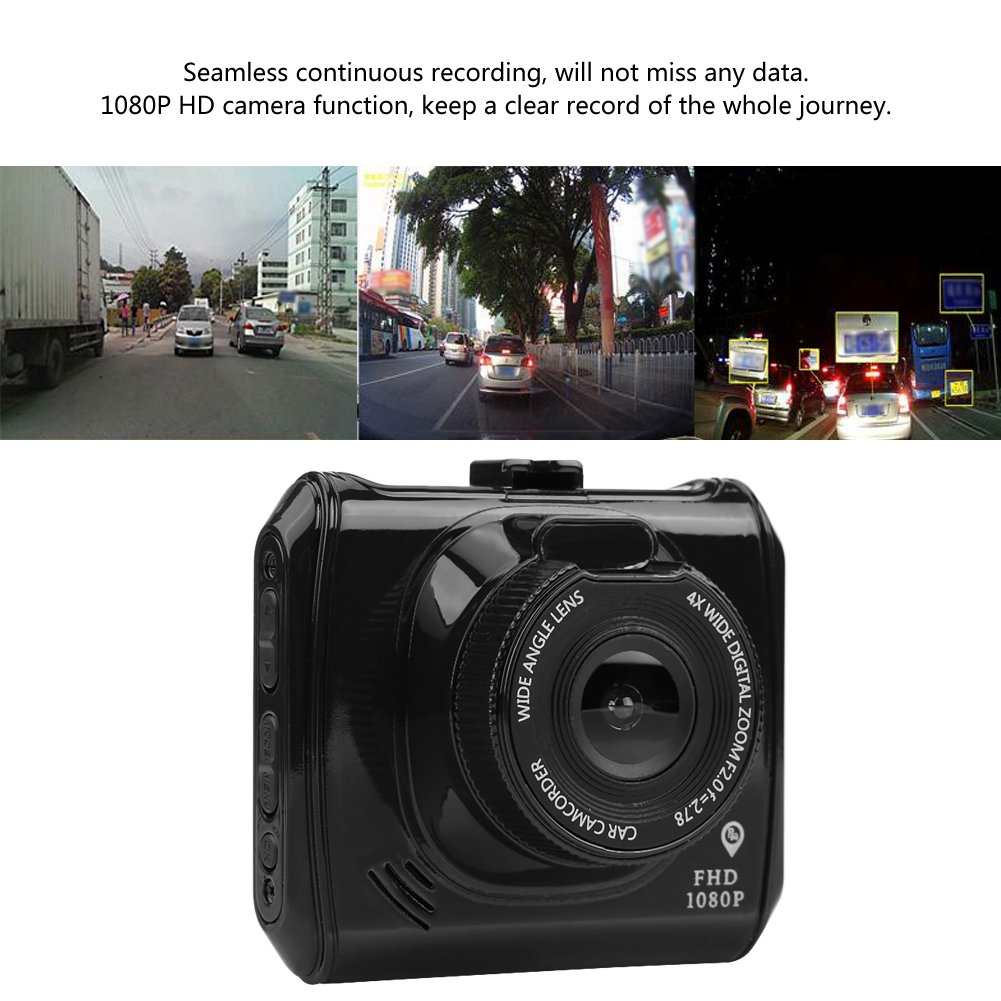 12V-24V EBTOOLS 1080P HD Car DVR Dashboard Camera with Bluetooth Positioning Car Dash Cam Night Vision Loop Recording Motion Detect 4347656800 2.4in LCD Screen 140/°Wide Angle