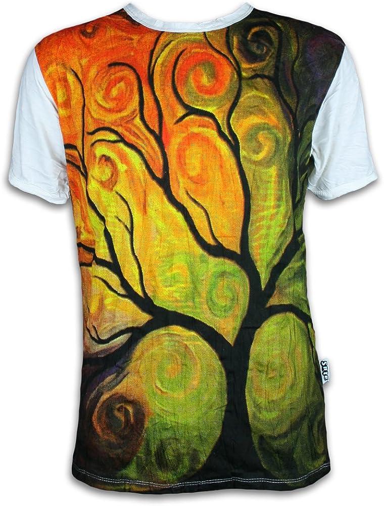 Sure Clothing Camiseta Hombre El Arbol de la Vida Talla M L XL Magia Buda Yoga Arte Psicodélico Boho Namaste (M, Blanco): Amazon.es: Ropa y accesorios