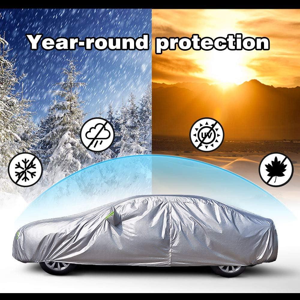 NIBESSER B/âche pour Voiture Exterieur Imperm/éable Housse de Voiture Protection Auto SUV /Étanche Couverture Voiture
