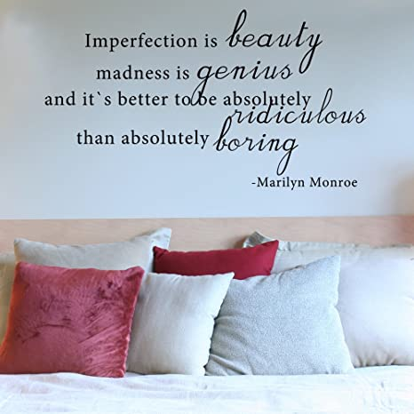 Imperfection Is Beauty Marilyn Monroe Citation Anglais