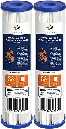 50 mic 2-Pak Heavy Sediment Aqua-Pure Premium Filter Cartridge AP110 8 gpm