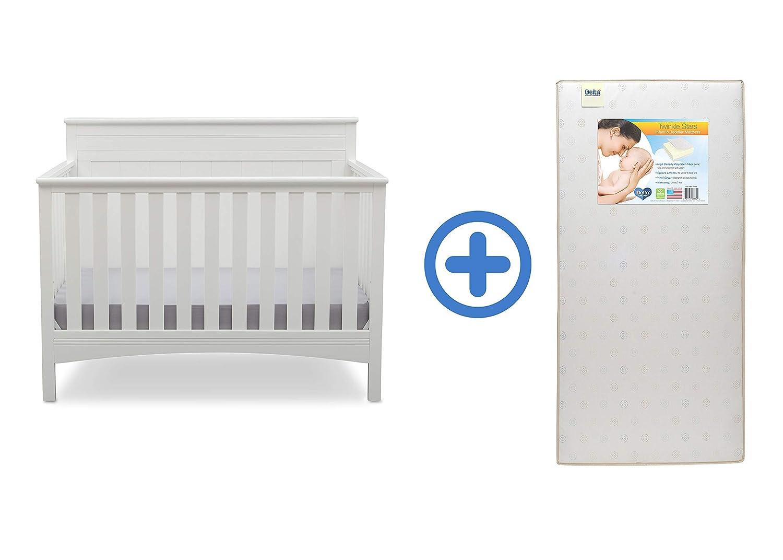 Delta Children Fancy 4-in-1 Convertible Baby Crib, Dark Chocolate 540310-207