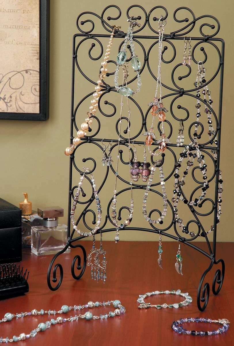 Darice Jewelry Display Swirl Ladder Metal 14.75 X 4.5 Inches Black (12 Pack)