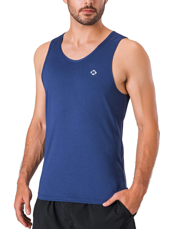Naviskin Mens Quick-Dry Training Gym Tank Tops Workout Muscle Sleeveless Shirts