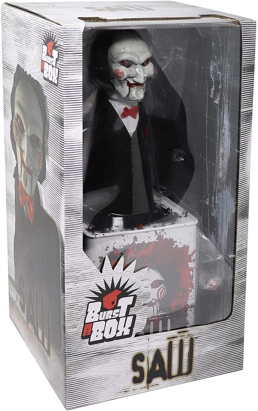 "Saw Billy Burst A Box Jack In The Box 14/"" Mezco IN STOCK"