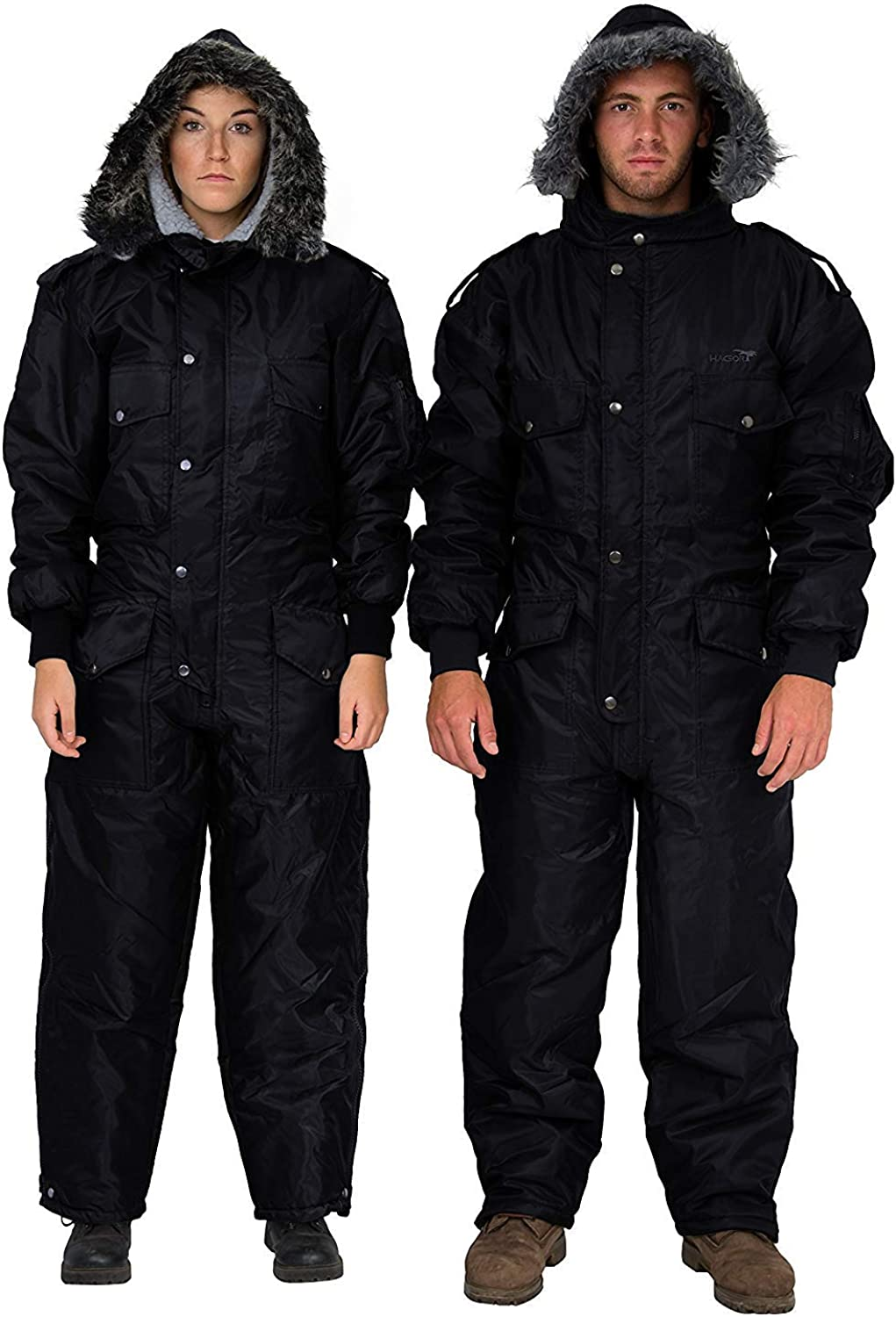 Black IDF Snowsuit Winter Clothing Snow Ski Suit Coverall Insulated Suit: Clothing