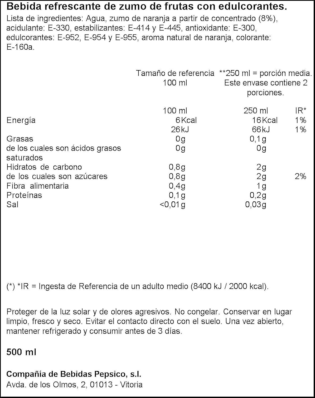 Radical - Orange attraction - Bebida refrescante de zumo de frutas con edulcorantes - 500 ml: Amazon.es: Alimentación y bebidas