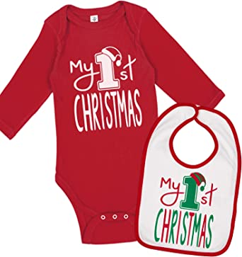 FIRST CHRISTMAS PERSONALISED BABY GROW VEST CUSTOM FUNNY GIFT CUTE XMAS 1ST