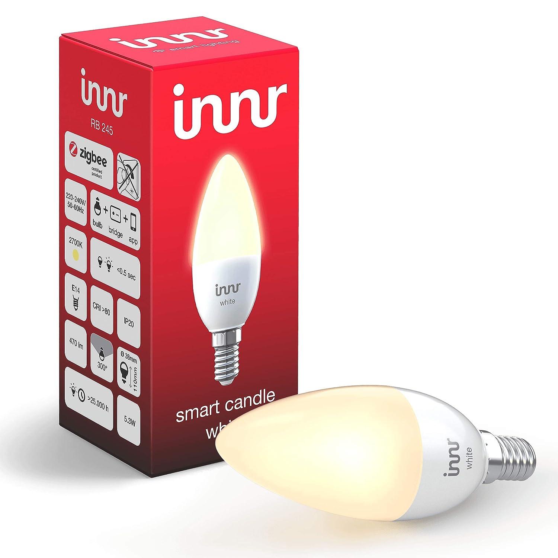 Innr Bombilla LED conectada, E14, luz blanca cálida, controlable vía smartphone, Philips Hue* & Echo Plus compatible, RB 245: Amazon.es: Electrónica