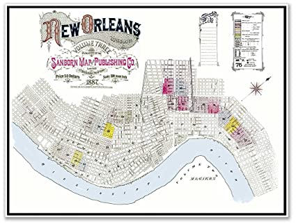 Amazon.com: MAP of the city of NEW ORLEANS by the Sanborn Map ... on