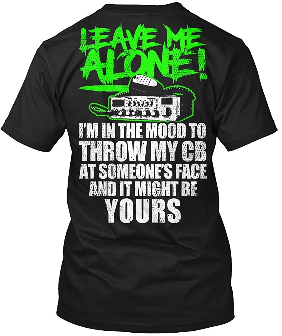 Driver Trucker T-Shirt Leave Me Alone Truck Driver T-Shirt For Mens