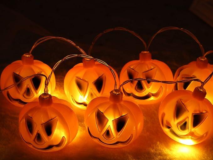 Led luci stringa led luci zucca halloween catena luminosa luci