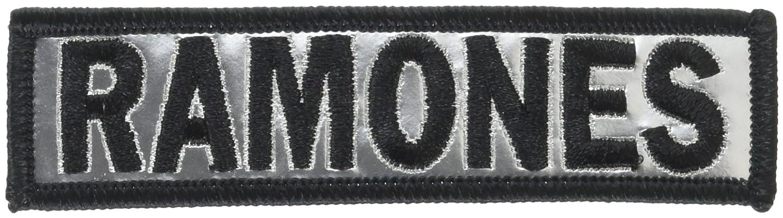 RAMONES Logo Chrome, Officially Licensed Original Artwork, Premium Quality Iron-On / Sew-On, 4' x 1' Embroidered PATCH PARCHE 4 x 1 Embroidered PATCH PARCHE Officially Licensed & Trademarked Products P-3177-CH