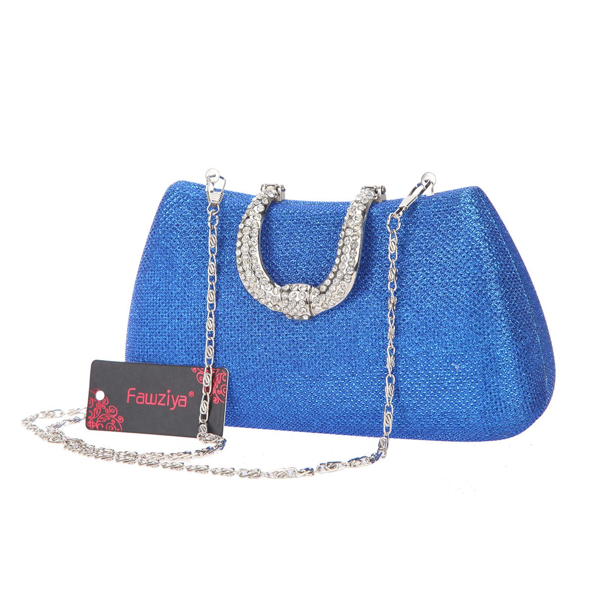 82cc7e1db1 Fawziya Glitter Lnitials Clutch Purses For Women Hard Case Evening bag-Blue   Amazon.com.au  Fashion