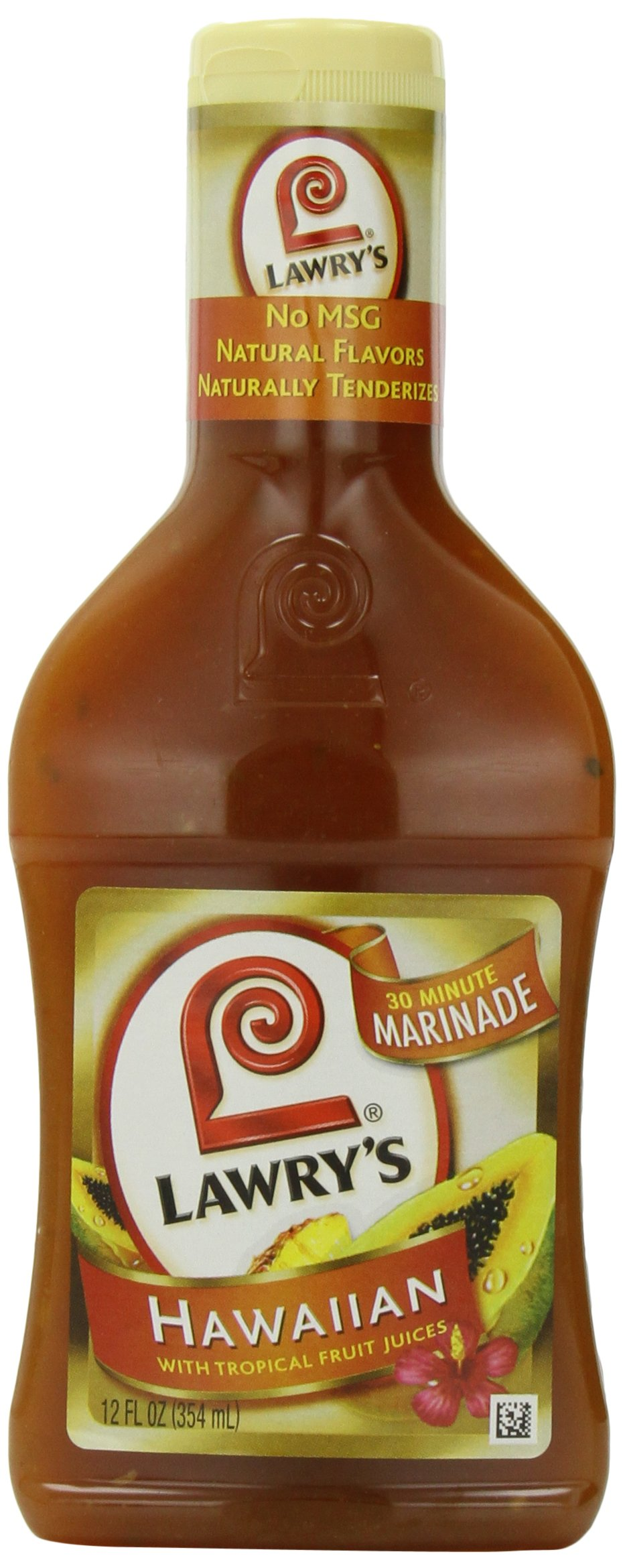 Lawry's 30-Minute Marinade, Hawaiian with Tropical Fruit Juices, 12-Ounce Bottles (Pack of 6)