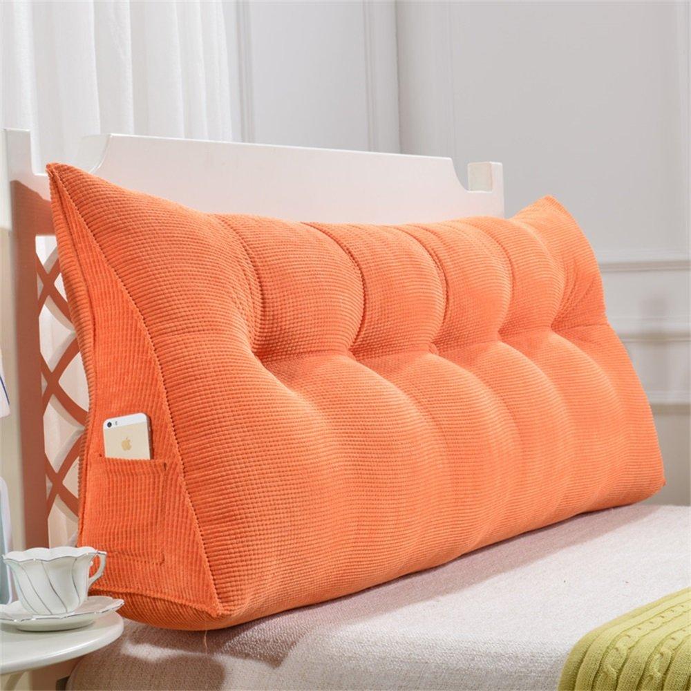 取り外し可能な三角クッション/ピローダブルベッドソフトバッグベッドクッションベッドバックレスト (色 : Orange, サイズ さいず : 90 * 50 * 20cm) B07DK6Q3H8 90*50*20cm|Orange Orange 90*50*20cm