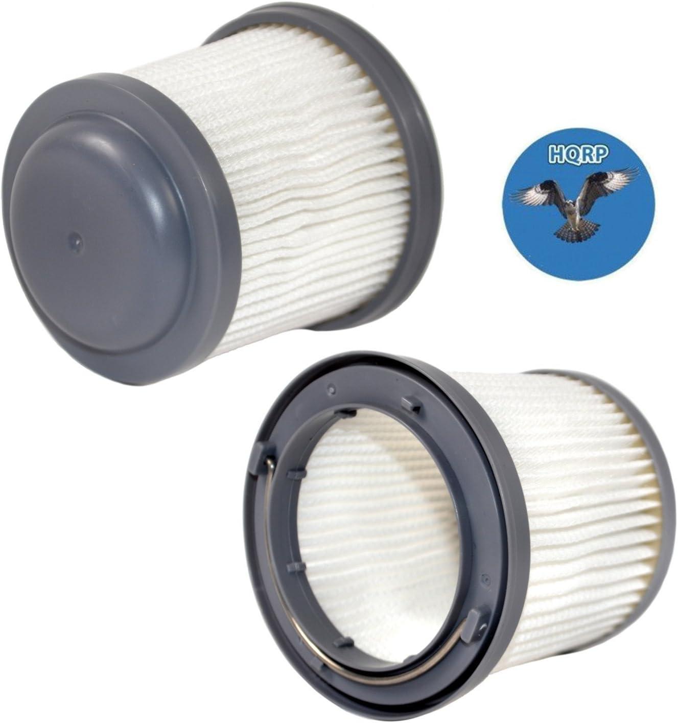 HQRP 2-Pack Washable Filter Works with Black & Decker HFVB320J27, HFVB315J22 DUSTBUSTER, HFVAB320JC26 Car Lithium Flex Hand Vacuum PVF110 Plus Coaster