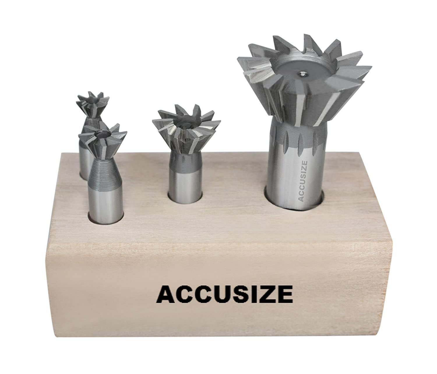 Right Hand Weldon Shank Dovetail Angular Cutters Accusize Industrial Tools 4 Pc 60 Degree H.S.S 4400-6206