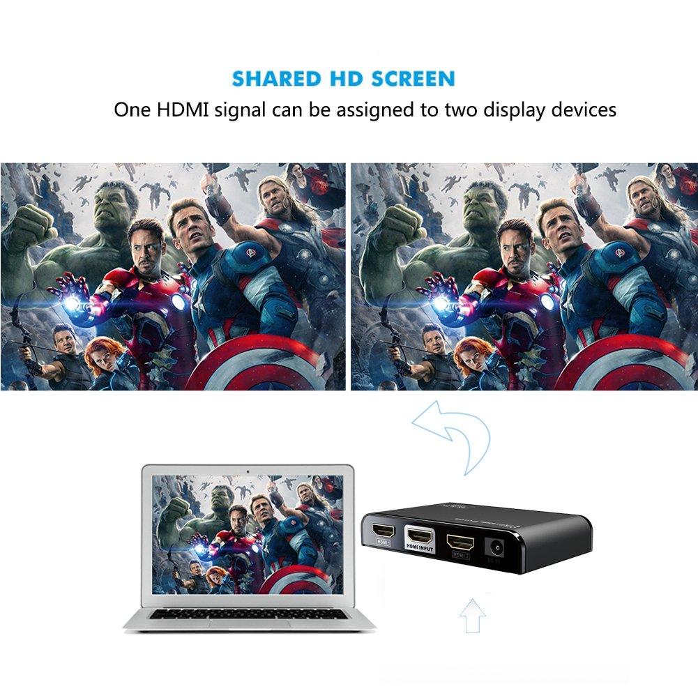 lEDID Automatique 4k*2k contr/ôle 3D et RS232 1 avec la t/él/écommande Infrarouge sans Fil AGPTEK HDMI Commutateur//Switch 2.0 5