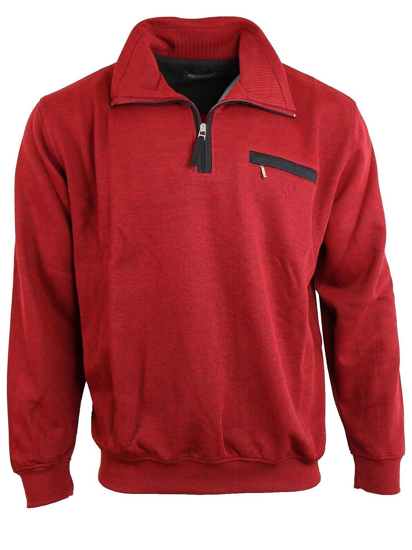 Sweatshirt von Monte Carlo 6905 mit Troyer-Kragen Uni, Anthrazit (68), Gr. M