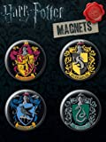 Ata-Boy Harry Potter Crests Button Magnet Set