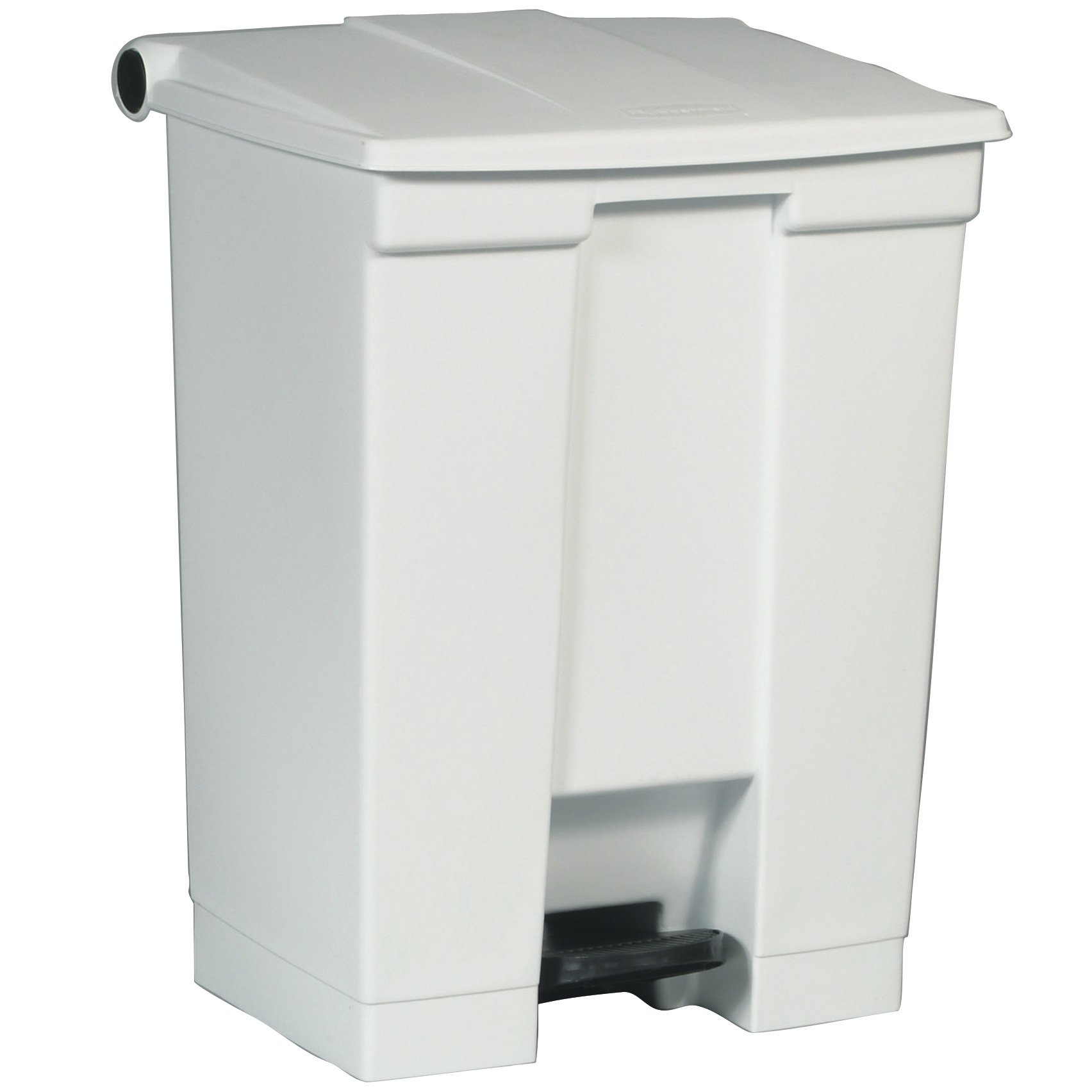 Rubbermaid Commercial Slim Jim Front Step On Trash Can, White, 18 Gallon