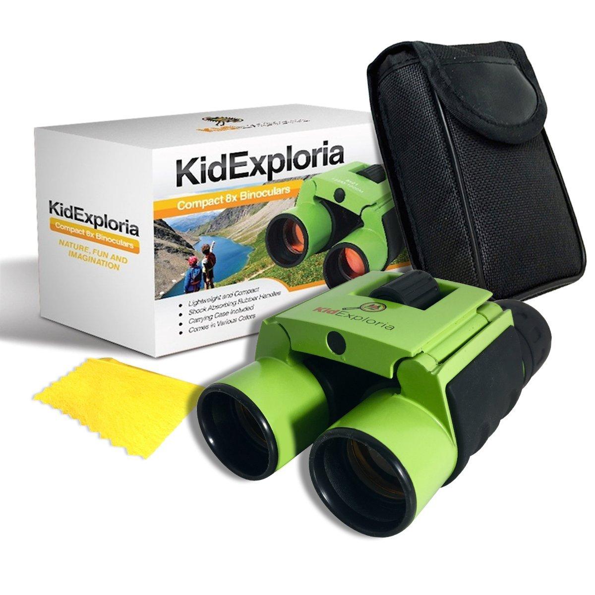 双眼鏡for Kids Set 8 x 21-コンパクトand Small :ポケットサイズ、耐衝撃、Bird Watching、ハイキング、教育、自然、科学、Backyard Discovery by Kid exploria B01N3NNQKS