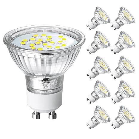Bombillas LED GU10 4W,Equivalente a 35W Lámpara Incandescente,Blanco Frio ,380LM,