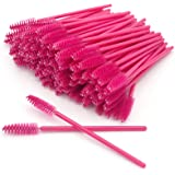 GreenLife 50 pcs/100 pcs/150 pcs/200 pcs/300 pcs/400 pcs/600 pcs/800 pcs Eyelash Brush Mascara Wands Applicator (50pcs, Purple)