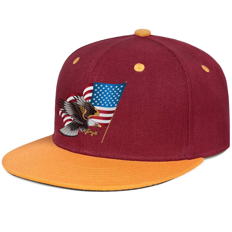 KYTKYTT Unisex Mesh Snapback Cap 2018 Stars American Flag USA Flag Flat Hip Hop Baseball Hat
