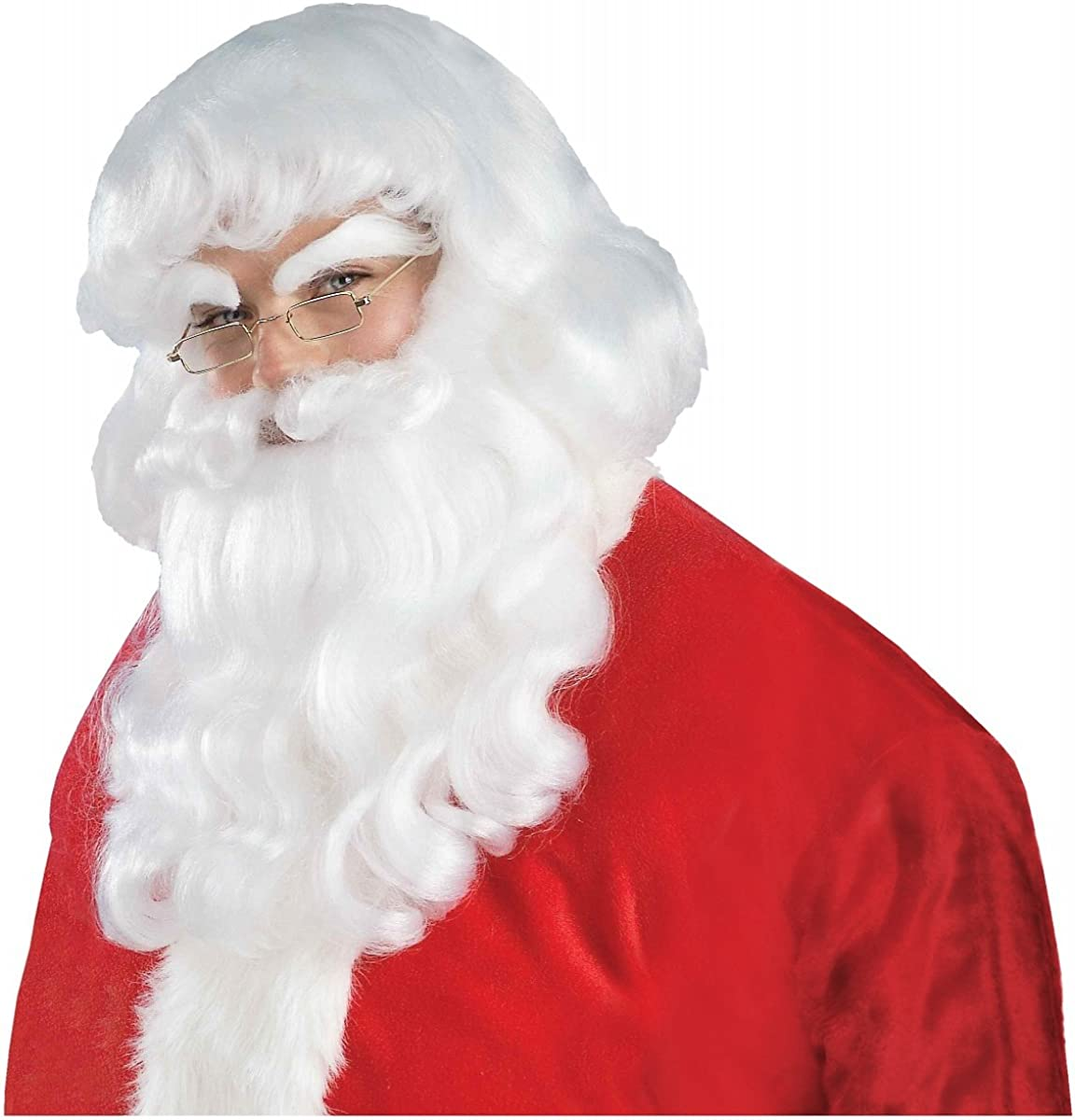 SANTA CLAUS WIG MOUSTACHE AND BEARD SET HOLIDAY ADULT COSTUME ACCESSORY