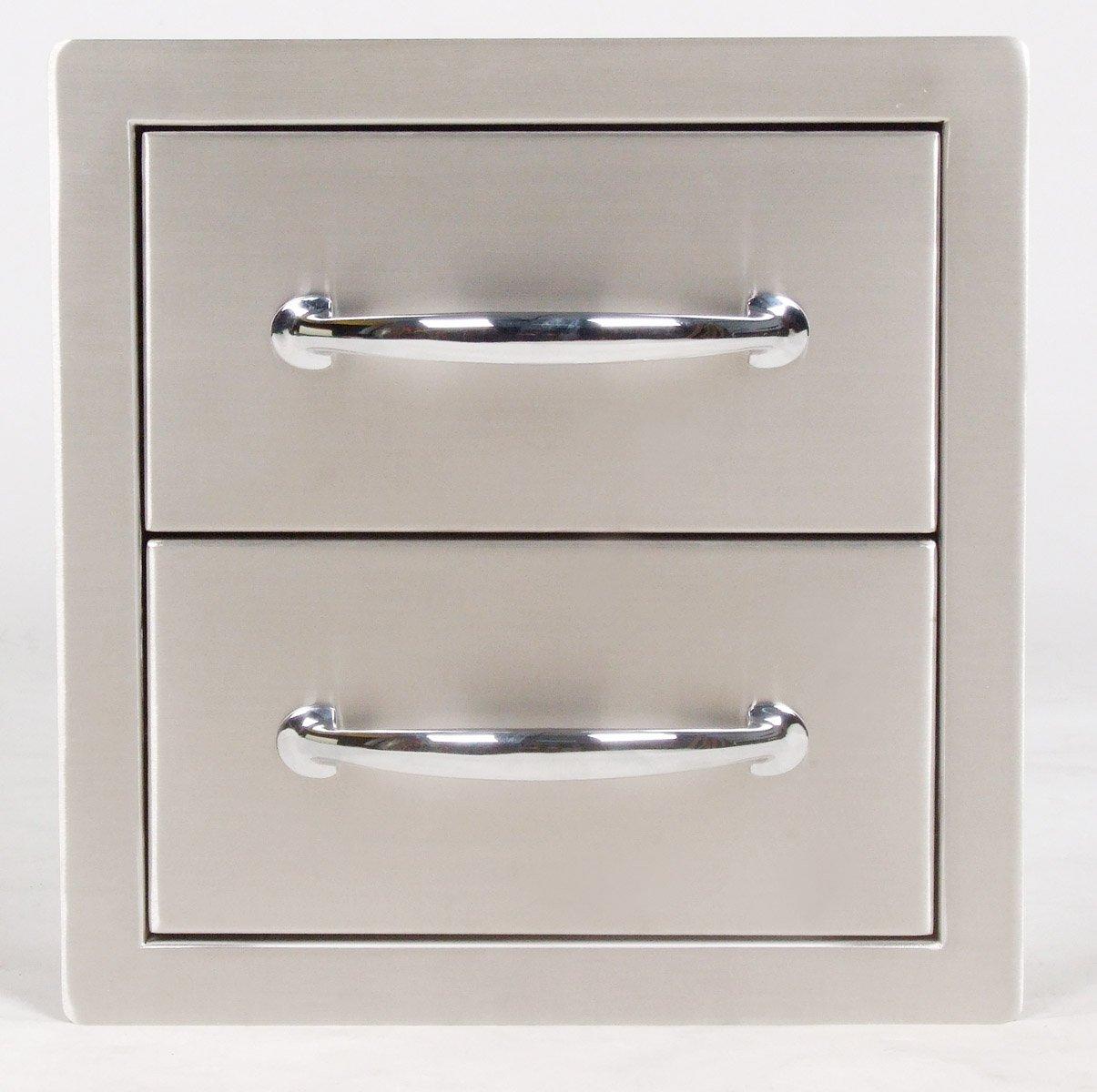 SUNSTONE B-DD12 14-Inch Flush Double Access Drawer