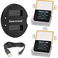 LP-E17 Newmowa Replacement Battery (2 Pack) and Dual USB Charger Kit for Canon EOS M3 M5 M6 200D 750D 760D 800D Rebel…