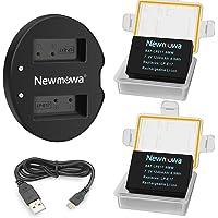 Newmowa LP-E17 Batería de Repuesto (2-Pack) y Kit de Cargador Doble para Micro USB portátil para Canon LP-E17 y Canon EOS M3 M6 750D 760D Rebel T6i T6s 8000D Kiss X8i