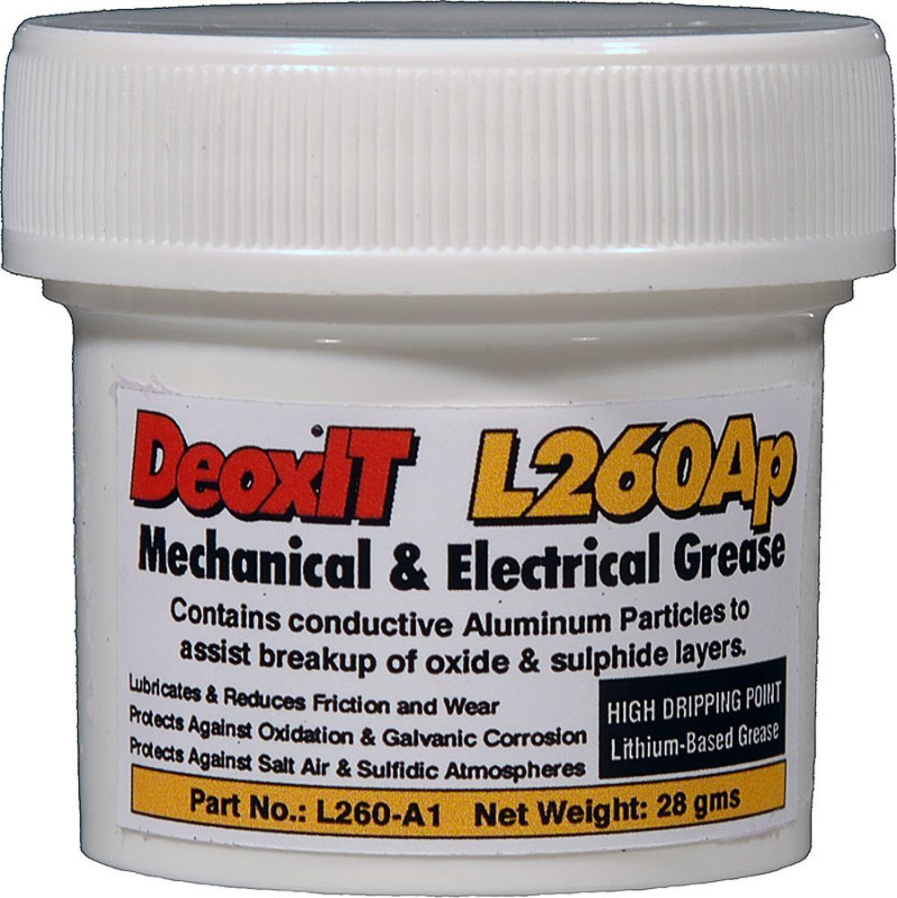 DeoxITL260 Grease L260Ap, jar aluminum particles 28 g by CAIG Laboratories