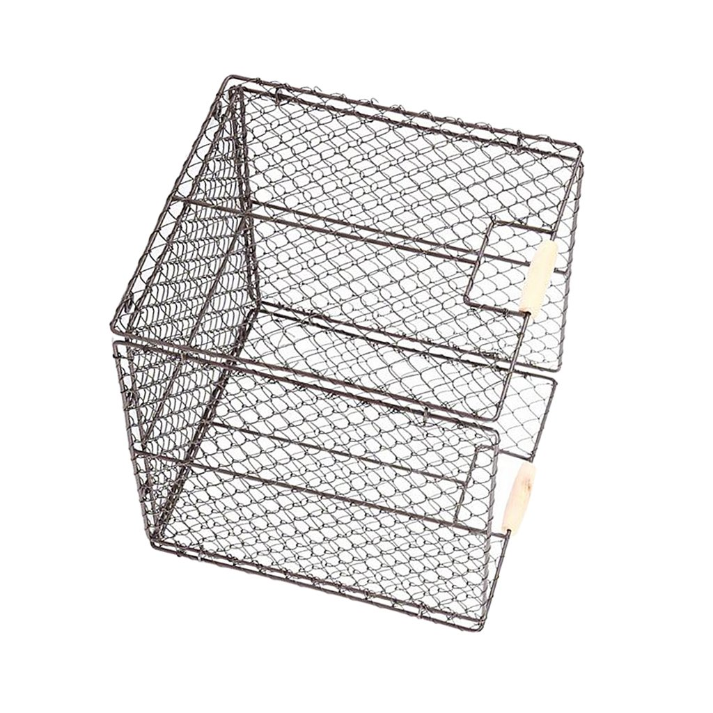 Baoblaze Foldable Metal Basket Bins, Collapsible Storage Cube for Nursery Home and Office (Red, Beige, Brown Available) - Brown