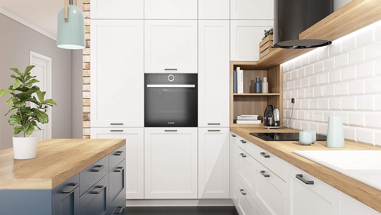UU56 ba/ño o cualquier armario CC 160 renueva tus muebles con nuestros accesorios // 10 unidades//Tiradores para cocina color Negro mate Tirador Honey