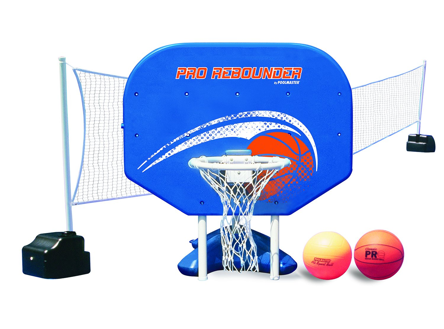 Poolmaster 72775 Pro Rebounder Poolside Basketball/Volleyball Game Combo