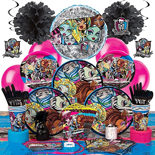 Deluxe Monster High Party Supplies Kit for 8 (Monster High Kit)