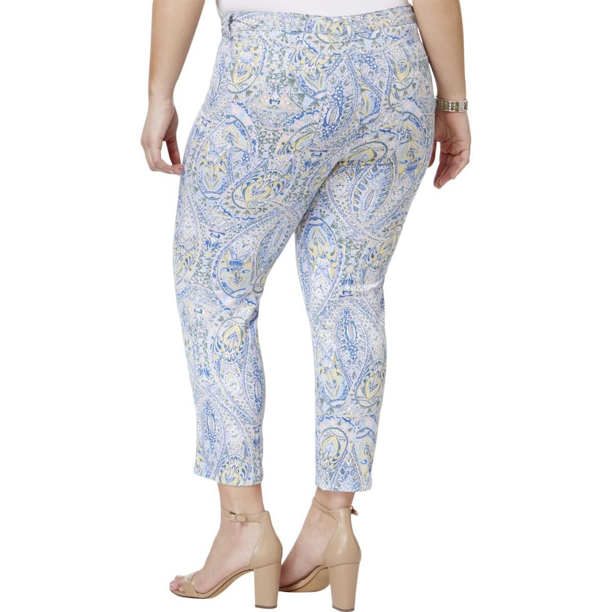 d674109a568 Charter Club Womens Plus Bristol Denim Printed Capri Jeans Blue 24W at  Amazon Women s Clothing store