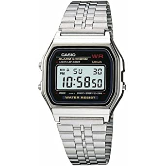 2f2a9f17929f Image Unavailable. Image not available for. Color  Mens Casio Classic  Digital Watch Silver ...
