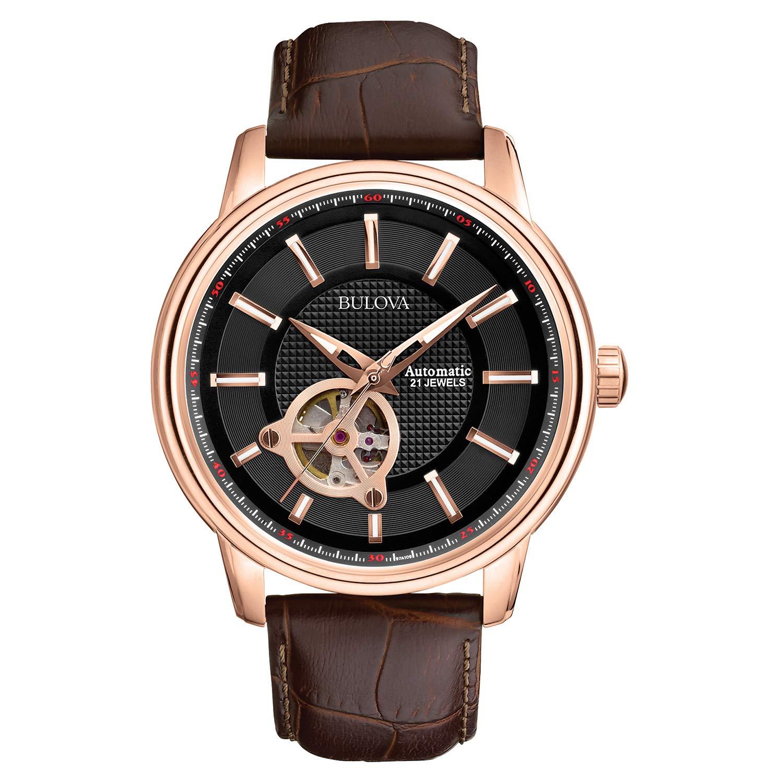 5932a8bfc Amazon.com: Bulova Men's 97A109 Bulova Series 160 Mechanical Watch: Bulova:  Watches