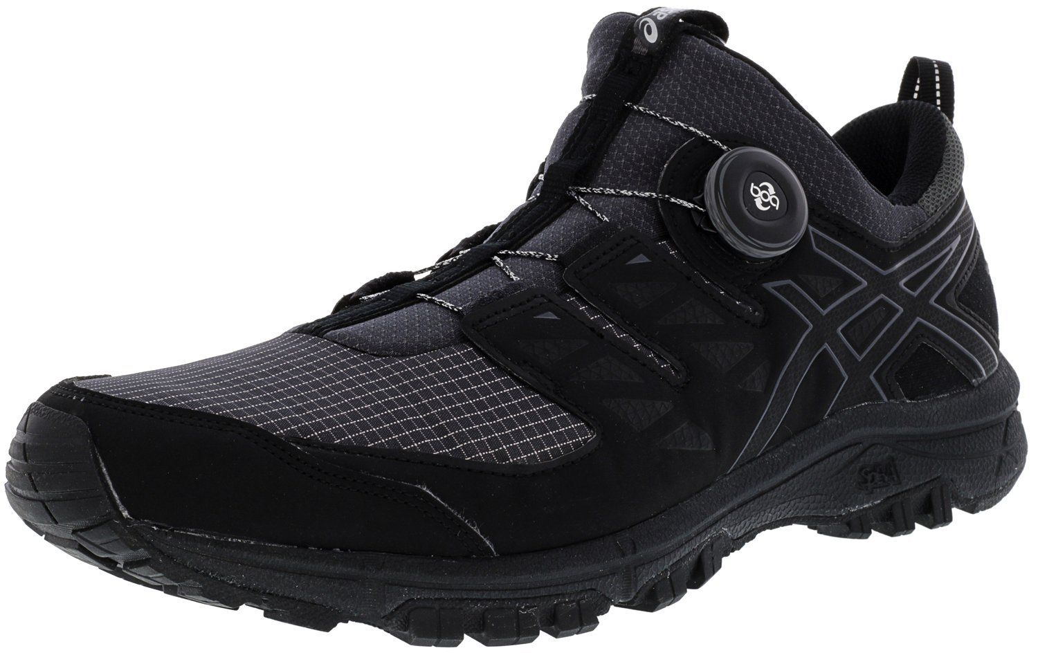 ASICS Men's Gel-FujiRado Trail Running Shoes B075QM5ZMH 14 D(M) US|Dark Grey/Black/Silver