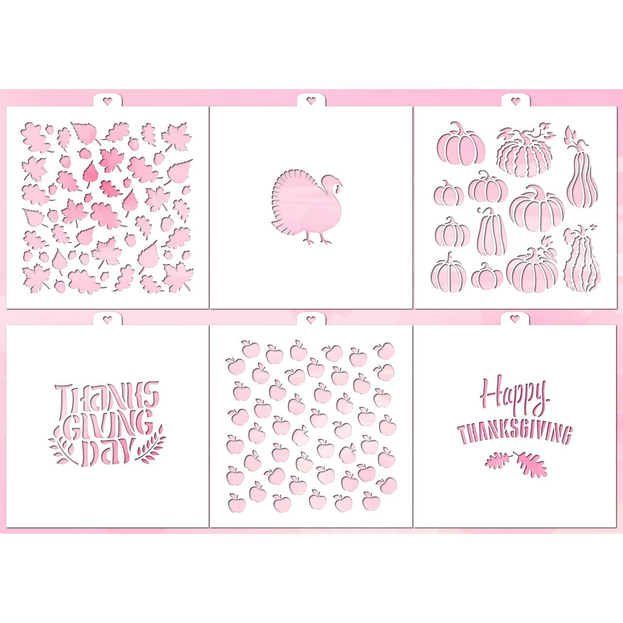 Cookie Stencil Set THANKSGIVING DAY 2, 6 pcs. by Lubimova.com