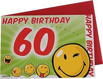 Gluckwunschkarte Grusskarte 60 Geburtstag Bewegliche Ausstattung