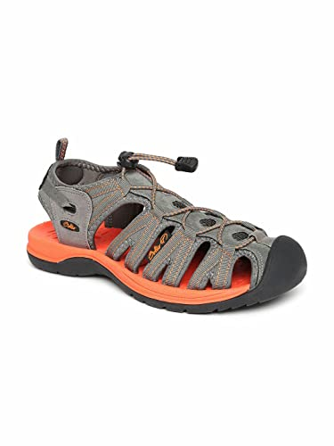 Boltio Men Grey & Orange Sports Sandals ...
