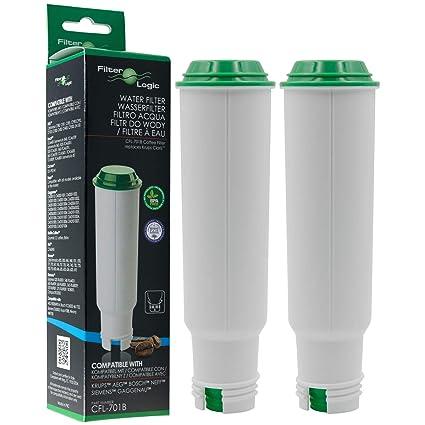 2 x FilterLogic CFL-701B - Filtro de agua reemplaza el cartucho CLARIS para Krups