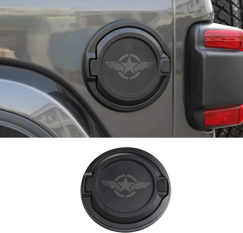 Savadicar Gas Cap Cover Non-Locking Fuel Tank Door for 2018-2020 Jeep Wrangler JL 2//4 Door Black Aluminum Alloy Construction ABS USA Flag